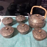 Japán stílusú porcelán teáskészlet