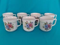 Hatvanas évekbeli Alföldi porcelán virágos csészék