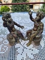 Rare bronze putto pair!