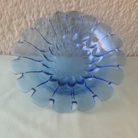 Kék üveg tál
