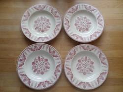 """4 db francia Luneville """"English Style"""" porcelán mélytányér 23 cm"""