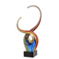 Murano féle üveg absztrakt szobor