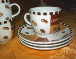 Kávés, kapucsínos, teás porcelán készlet