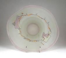 1F303 Jon Art kortárs művészi üveg tál 31 cm