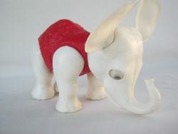 Retro ... DMSZ műanyag játék mozgó szemű elefánt