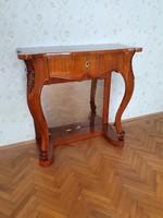 Barokk faragott konzol asztal