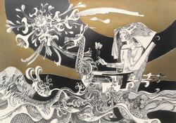 SZÁSZ ENDRE ALBUM - 10 EREDETI GRAFIKA (1983) aláírt teljes mappa, 60x80 cm