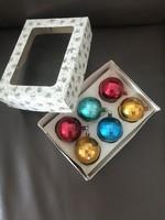 Antik olasz színes karácsonyfadísz gömbök
