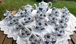 Zsolnay Antoinette mintás teás, káveskészlet, 38 db