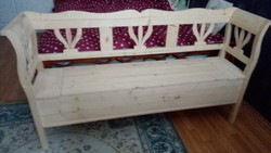 Arm chest, arm bench, opening chest garden furniture 170 cm