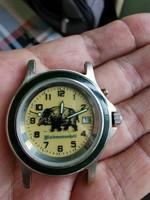 Greiner Ansitzuhr 1217 quartz óra! Szépen Működik minden rajta! 37mm.kn