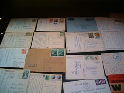 70 darab vegyes boritékok képeslapok külföldi belföldi FDC  k boriték levél bélyeg KIÁRUSÍTÁS