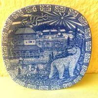 Svéd porcelán, Julien Rörstrand tányér, dísztányér, maci, minta
