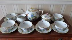 Herendi 6 személyes Viktória mintás teás készlet