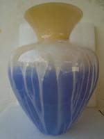 GIGANTIKUS MÉRETŰ-VINTAGE RARE 1961-64 FRATELLI TOSO MURANO A CANNE ART GLASS BOTTLE VASE