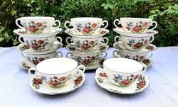Német porcelán leveses csésze garnitúra
