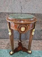 Empire márvány lapos asztalka