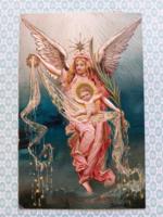 Régi karácsonyi képeslap 1908 angyalos levelezőlap