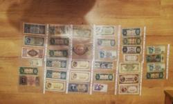 34 db papirpénz