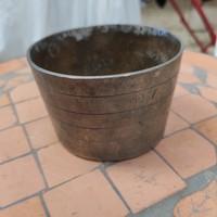 Antik-régi ón edény, patika tégely,dohàny vagy gyógyszer tégely,mozsàr,keverő , kínáló,hamutartó
