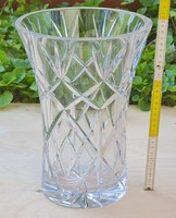 Csiszolt, nagyméretű kehely kristály üvegváza (1855)