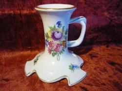 1941.évi Herendi porcelán virág mintás gyertyatartó 2108 03
