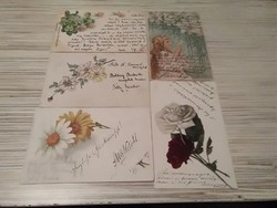 Antik képeslap csomag.