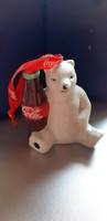 Porcelán coca-cola  karácsonyfa dísz