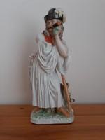 Herendi Búsuló juhász porcelán figura szobor