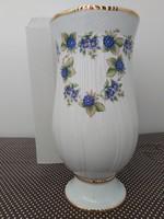 Hollóházi Pannónia szedres váza 25 cm dobozában