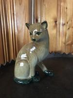 Porcelán cica macska szobor figura