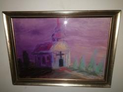 Mersits Piroska - Templom - eredeti alkotás, teljeskörű garanciával - 1 forintról.