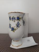 Hollóházi Pannónia szedres váza 18 cm, dobozában