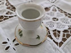 Hollóházi Erika mintás porcelán gyertyatartó