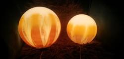 Art-Deco asztali lámpa hangulat gömb lámpa 2db. ALKUDHATÓ!