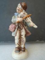 Antik német porcelán figura a cigány hegedűs kisebb javítással amit fotóztam 12,5 cm
