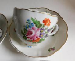 Hüttl Tivadar Aquincum  kézzel festett teás/hosszú kávés szettek