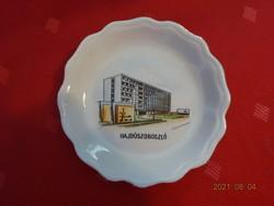 Aquincum porcelán asztalközép, Hajdúszoboszló felirattal és látképpel! Vanneki!