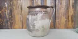 Gömöri kisméretű főzőedény, régi népi kerámia