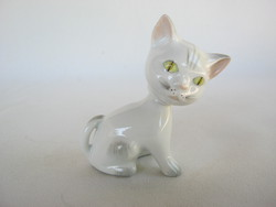 Aquincumi retro porcelán cica macska