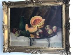 Murin Vilmos,  Csendélet gyümölcsökkel