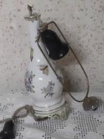 A II. világháború alatt gyártott sérült viktória mintás Herendi porcelán lámpa test értékmentésre