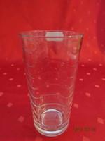 Üvegpohár, hullámos mintával, magassága 13 cm, átmérője 6,5 cm. Vanneki!