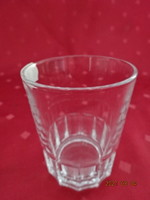 Üveg borospohár, magassága 8 cm, átmérője 6,4 cm. Vanneki!