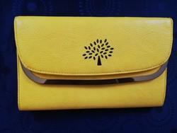 Eladó gyönyörű iparművész citrom sárga bőr táska!