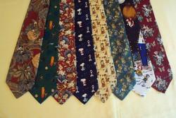 8 db.VADONATÚJ márkás,finom selyem,figurális mintás nyakkendő gyűjtemény.(együtt)