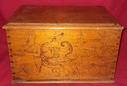 Old antique wooden box