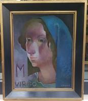 Somos Miklós (1933-2009) : Mária és József, 2db. kép együtt 69eft.!
