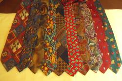 10 db,VADONATÚJ márkás, finom selyem nyakkendő gyűjtemény.(együtt)