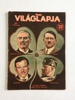 Tolnai Világlapja, 40. évf. 41. szám, 1938. október 5. - Hitler, Mussolini, Chamberlain, Daladier